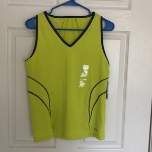 Work Out Yellow Tank Top